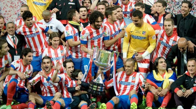 Atleti won the Copa del Rey in 2013